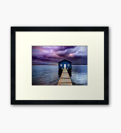 Blue Boathouse 2 Framed Print