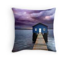 Blue Boathouse 2 Throw Pillow