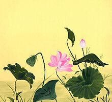 Water Lilies from Amphai by Baina Masquelier