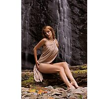 Lady of the Falls... Photographic Print