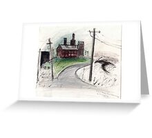Flour Mill and Magpie Greeting Card