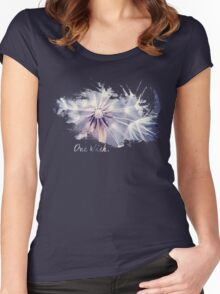 Dandelion Blue Graphic - Horizontal  Women's Fitted Scoop T-Shirt