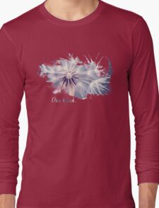 Dandelion Blue Graphic - Horizontal  Long Sleeve T-Shirt