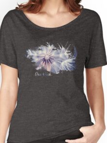 Dandelion Blue Graphic - Horizontal  Women's Relaxed Fit T-Shirt
