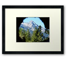 Through a Lens Framed Print