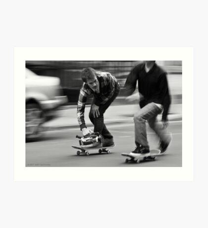 Skate Shoot - Street Scene, New York City Art Print