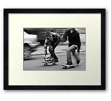 Skate Shoot - Street Scene, New York City Framed Print