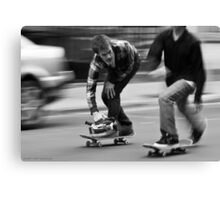 Skate Shoot - Street Scene, New York City Canvas Print