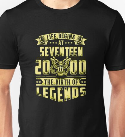 life at seventeen 2000 the birth of legends Unisex T-Shirt