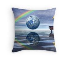 A Day in the Life, Searching for the Bigger Picture Throw Pillow