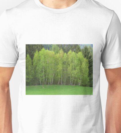 Spring Green - Birch Trees Unisex T-Shirt