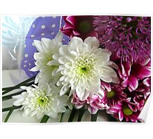 Beautiful Bouquet - Vibrant Gerberas and Dahlias  Poster