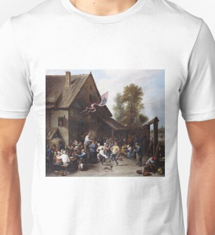 David Teniers The Younger - Kermis On St Georges Dayc.1664 - 1667 Unisex T-Shirt