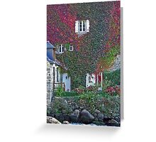 French Autumn  House Wall Greeting Card