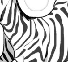 Stunned Zebra Sticker
