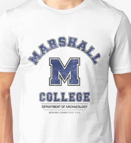 Indiana Jones - Marshall College Archaeology Department Distressed Variant  Unisex T-Shirt