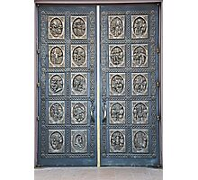 Cathedral Basilica of St Francis of Assisi Bronze Door Photographic Print