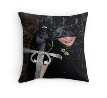 A heart tempered in the forge of war Throw Pillow