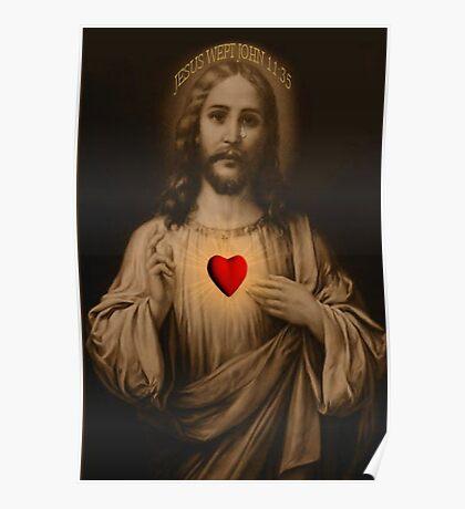 <º))))>< JESUS WEPT BIBLICAL~PICTURE/CARD <º))))><  Poster