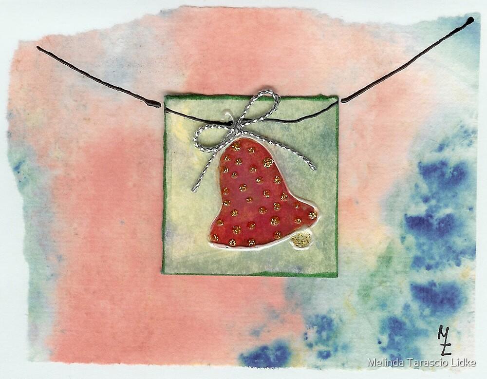 Christmas Bell Red and Dimensional 21c by Melinda Tarascio Lidke