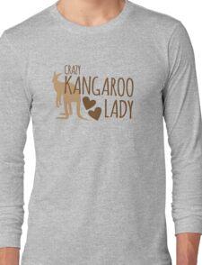 Crazy Kangaroo lady Long Sleeve T-Shirt