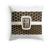 Fiat 128 Honeycomb Grill Throw Pillow