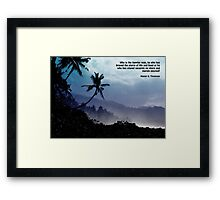 Hunter S. Thompson: Happier Man Framed Print
