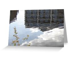 Blue building in river Greeting Card