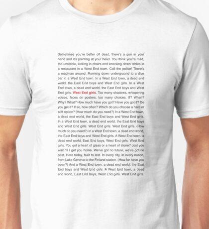 Pet Shop Boys - West End Girls (Lyrics) Unisex T-Shirt