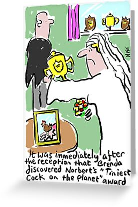 Cartoon - Tiniest Cock on Planet Award. by Nigel Sutherland