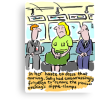 Cartoon - Nipple-clamps. Canvas Print