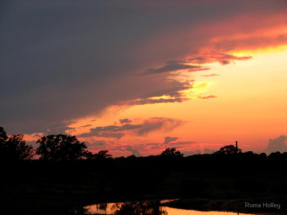 Sunset in Texas by Roma Holley