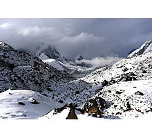 Fresh snow in Lobuche with Pumori (Unmarried Daughter) 7161 and Lingtren Photographic Print
