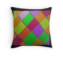 Modern diamond pattern, HAND DRAWN Throw Pillow