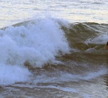 Surfing Off the California Coast - 4:37pm by photoartful