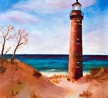 Little Sable Point Light by Brenda Thour