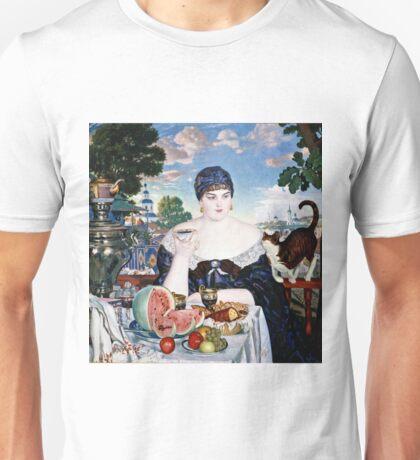 Boris Kustodiev - Merchants Wife At Tea 1918 Unisex T-Shirt