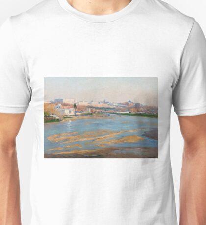 Beruete Y Moret, Aureliano De - The River Manzanares Unisex T-Shirt