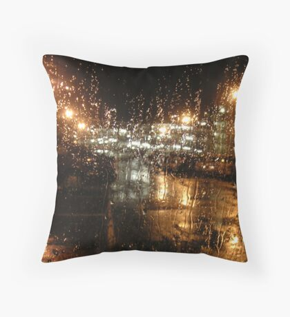 Golden Rain Throw Pillow