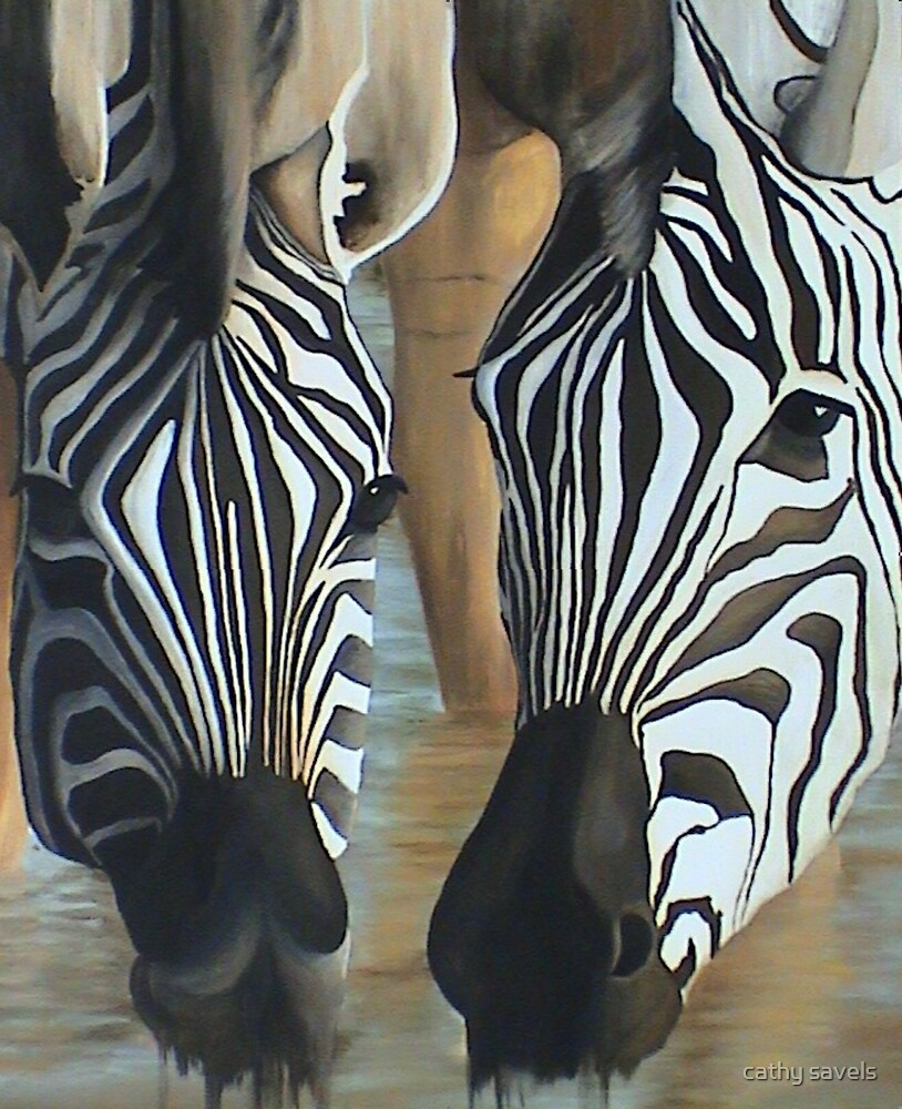 zebras by cathy savels