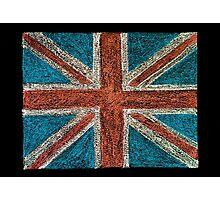 United Kingdom (British Union jack) flag Photographic Print
