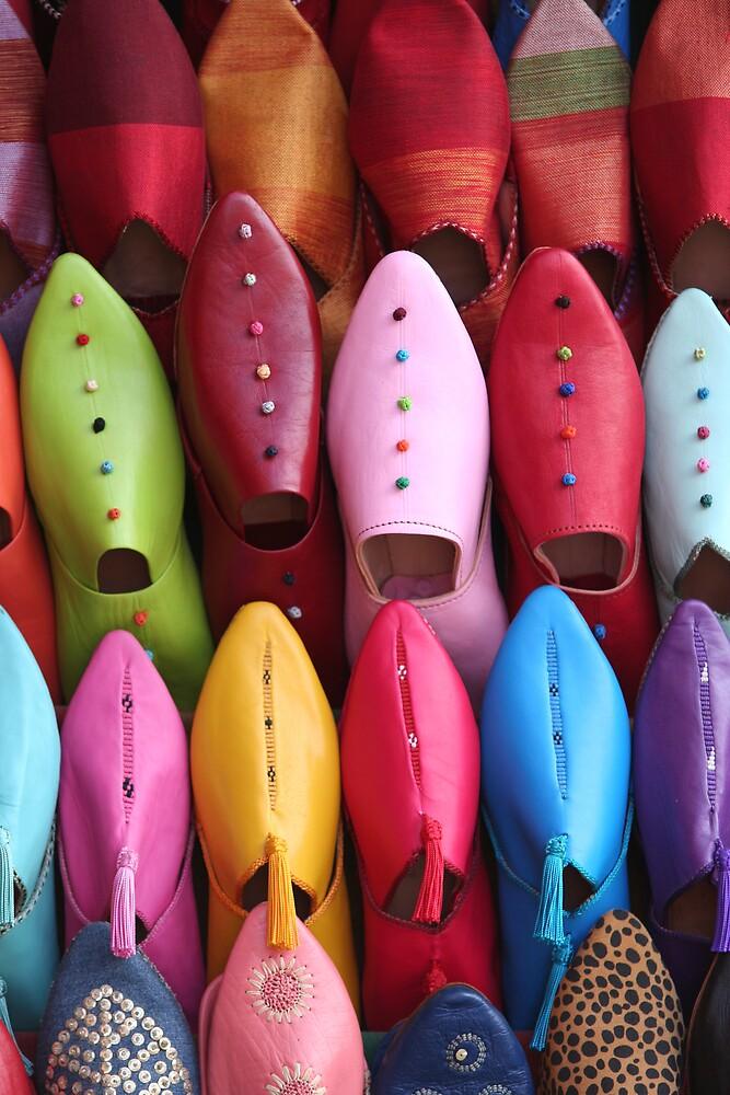 Colorful arabic shoes by gautier
