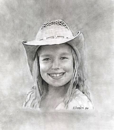 Allie - graphite by Marlene Piccolin