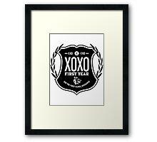 Exo XOXO First Year B Framed Print