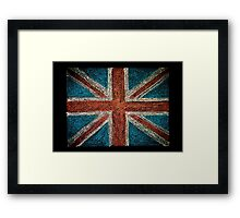 United Kingdom (British Union jack) flag Framed Print