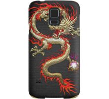 Golden Chinese Dragon Fucanglong on Black  Samsung Galaxy Case/Skin