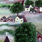 RED BARNS ON FARMS by cruserart