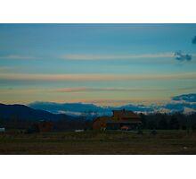 Hillside sunset Photographic Print