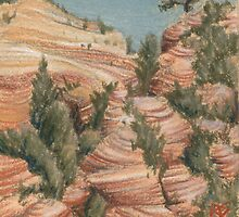 ACEO High Red Desert by robertsloan2