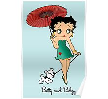 Betty Boop & Pudgy - Out For A Stroll Poster